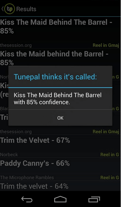 TunePal検索結果画面