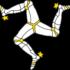 マン島やシチリアのシンボルマーク「三脚巴」
